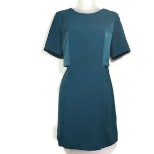 Topshop Career Teal Shortsleeve Shrug Style Dress